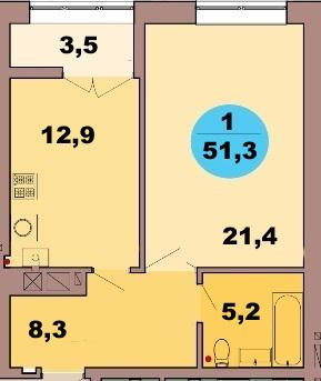1-комн. кв. по ул. Красная 139В, секция 2, кв 112