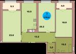 Трехкомнатная квартира по ул. Красная 139В, секция 3, кв 171