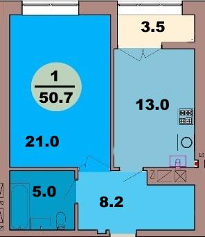 1-комн. кв. по ул. Красная 139В, секция 4, кв 234