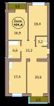 3-комн. кв. по ул. Красная 139А, секция 2, кв 142