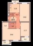 3-комнатная квартира ул. Осенняя 6А кв.55