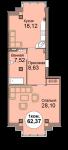 1-комнатная квартира по пр. Мира 83, секция 1, кв 20