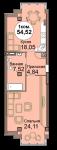 1-комнатная квартира Мира 83