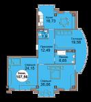 3-комнатная квартира по пр. Мира 83, секция 4, кв 35