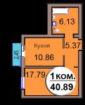 1-комн. кв. МКР Васильково Дом 3 по ГП секция 2, кв. 144