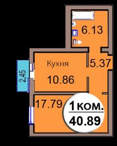 1-комн. кв. МКР Васильково Дом 3 по ГП секция 2, кв. 168