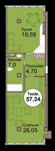 1-комн. кв. по пр. Мира 83 в Калининграде