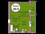 1-комн. кв. по пер. Калининградский, 4 кв. 328 в Калининграде