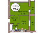 1-комн. кв. по пер. Калининградский, 4  кв. 240 в Калининграде