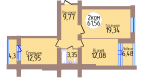 2-комн. кв. по пер. Калининградский, 4 кв. 383 в Калининграде