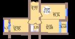 2-комн. кв. по пер. Калининградский, 4 кв. 407 в Калининграде