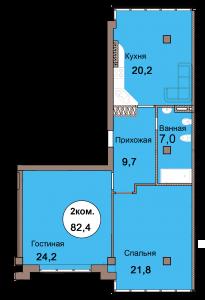 2-комн. кв. по Проспект  Мира, 83 кв. 19 в Калининграде