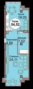 1-комн. кв. по Проспект  Мира, 83 кв. 23 в Калининграде