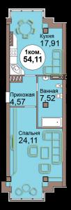 1-комн. кв. по Проспект  Мира, 83 кв. 25 в Калининграде