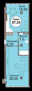 1-комн. кв. по Проспект  Мира, 83 кв. 29 в Калининграде
