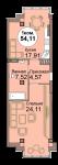 1-комн. кв. по Проспект  Мира, 83 кв. 36 в Калининграде